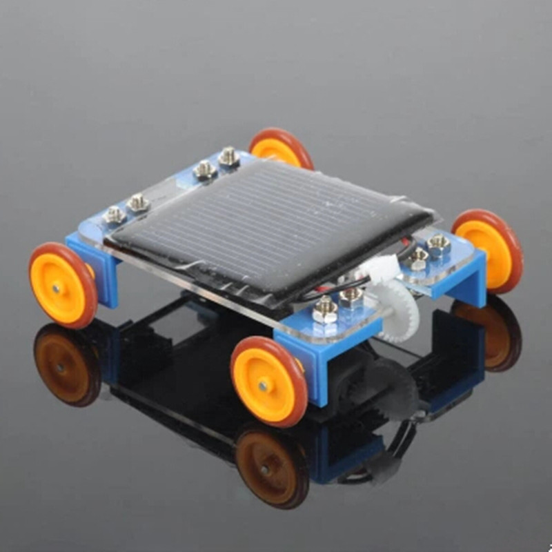 DIY Kit Yellow Wheel Solar Car Kit Model Kit for Child Energy Science and Technology Assembly Suite Educational Toys Car DIY