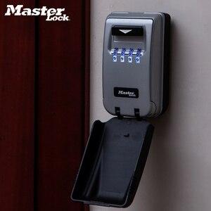 Image 5 - Master Lock Chiave di Sicurezza Box Da Parete per Esterni a Tasti Scatola di Immagazzinaggio di Notte Incandescente Password di Blocco di Sicurezza Home Office Organizzatore scatole