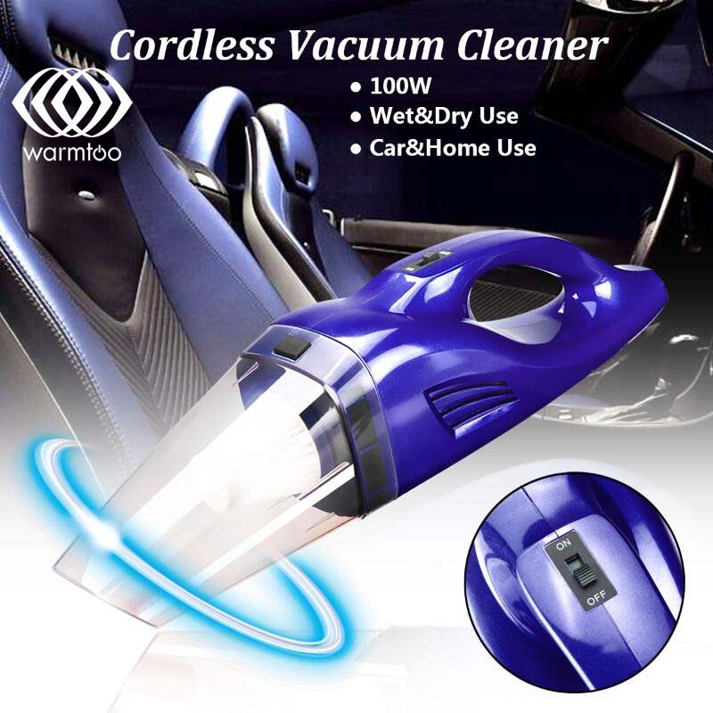 Cordless 12V 100W Dry Wet Dual Use Car Vacuum Cleaner Hand Held Rechargeable Cyclonic Vaccum Cleaner Partable Home Use 12v wet dry canister vacuum cleaner portable inflator turbo low noise compact lightweight hand held for car home