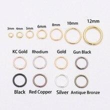 200 шт./лот, 4, 5, 6, 8, 10 мм, кольца-скачки, серебряные, разъемные кольца, соединители для самостоятельного изготовления ювелирных изделий, аксессуары