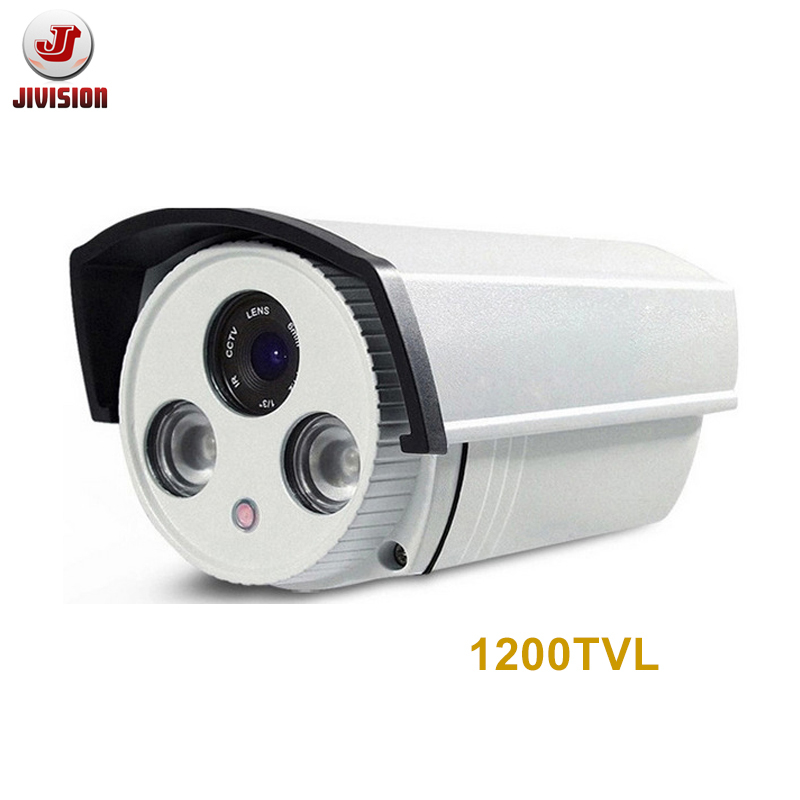 CMOS 1200TVL Analog CCTV Camera HD Outdoor Bullet Waterproof IP66 IR-CUT 2pcs IR led Array Video Surveillance Security Camera jooan waterproof 1 4 cmos hd bullet security cctv camera w 36 ir led silvery white pal secam