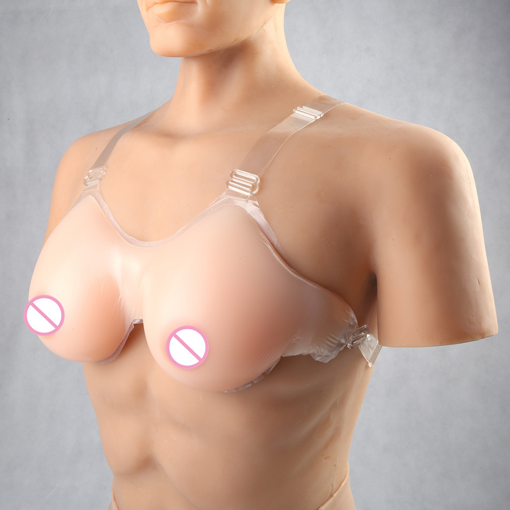 Promotion Strap Silicone Breast Forms Fake Boobs Crossdresser Shemale Trandsgender Breasts Enhancer Fake Silicone Tits