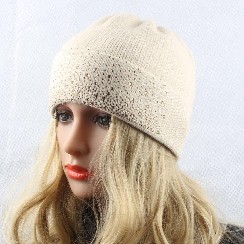 Damen Wintermützen Gestrickte Wollmützen für Damen Warme Mütze - Bekleidungszubehör - Foto 2