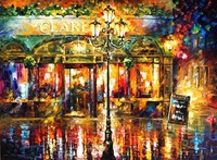 Street Painting For Sale Colorful Oil Paintings Canvas Clarens Abstract Modern Wall Art Home Decor High