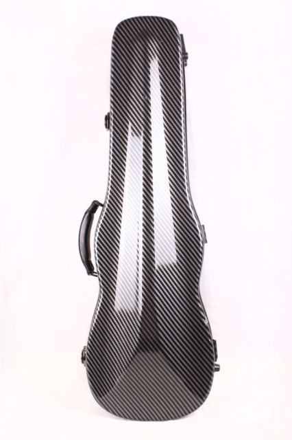 one new  Carbon fiber violin case 4/4 size fiber case Carbon fiber skin Strong light Durable black color white color alto saxophone glass fiber case light durable lock blue new white color