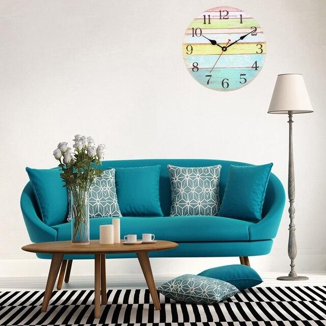 k nstlerische stille retro wanduhr kreative europ ische stil runde vintage rustikale dekorative. Black Bedroom Furniture Sets. Home Design Ideas
