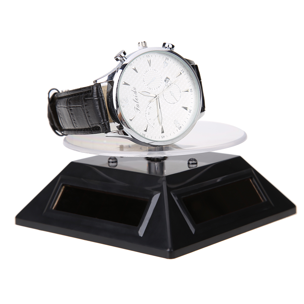 Color booth online - New Cool Watch Parts Fashion 3 Color Led Solar Light Parts Showcase 360 Turntable Rotating Display