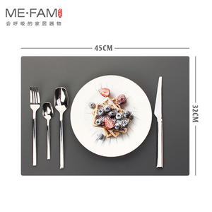 Image 3 - ME.FAM napperon en cuir et Silicone, set de Table Simple, Texture Anti chaleur, Pad de vaisselle, imperméable à leau et résistant à lhuile, tapis de Table de Table