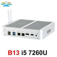 Intel Core i5 7260U B13 Mini Computer 7th Gen Kaby See Win10 Fanless Mini PC 4K HTPC minipc Nuc HD Graphics 640