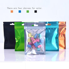 1000pcs/lot Matte Clear Plastic / Colorful Aluminum Foil Zipper Zip Lock Pouch Valve Bag Frosted Mylar Ziplock Hang Hole Bag(China)