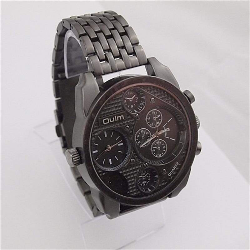 Men's 5cm Big Dial OULM 9316 Brand Luxury Watches Male dz Watch Military Montre Homme de Marque Relogio Masculino Original Black