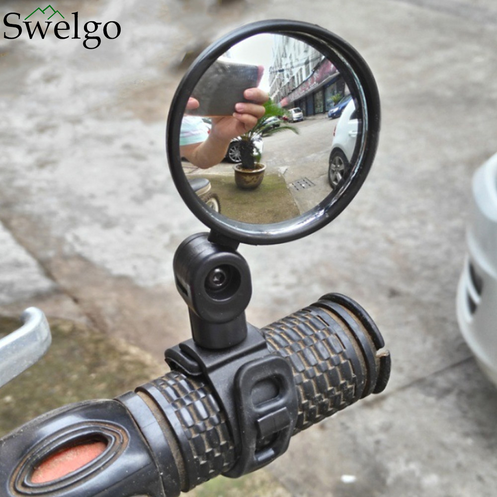 360 rotate Mountain Road Motorcycle Bike Bicycle Rear View Mirror Reflective Safety Cycling Handlebar Rearview bicycle mirror ...