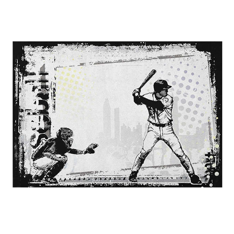 Baseball Player Poster Signs 20x30 CM Vintage Poster Decorative Metal Plaques Decorative Bar Cafe Living Room Home Decor Poster ...