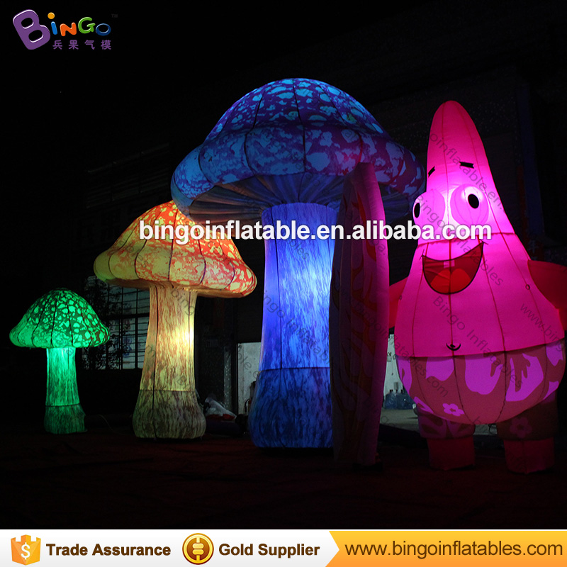 2017 Hot sale giant inflatable mushroom, 3m / 4m decoration inflatable led mushrooms light for music festival giant inflatable balloon for decoration and advertisements