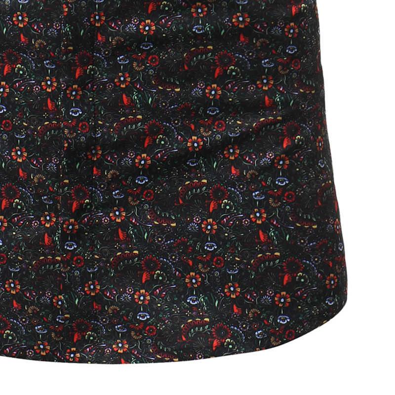 Стильный с цветочным принтом платье с цветочным рисунком рубашка Для мужчин 2018 Повседневное лето Slim Fit короткий рукав гавайская рубашка Для мужчин S отпуск Пляжные рубашки