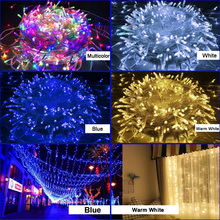 5m 96Leds LED Curtain Icicle String Light 220V Christmas Garland LED Faiy Xmas Party Garden Stage Outdoor Decorative Light