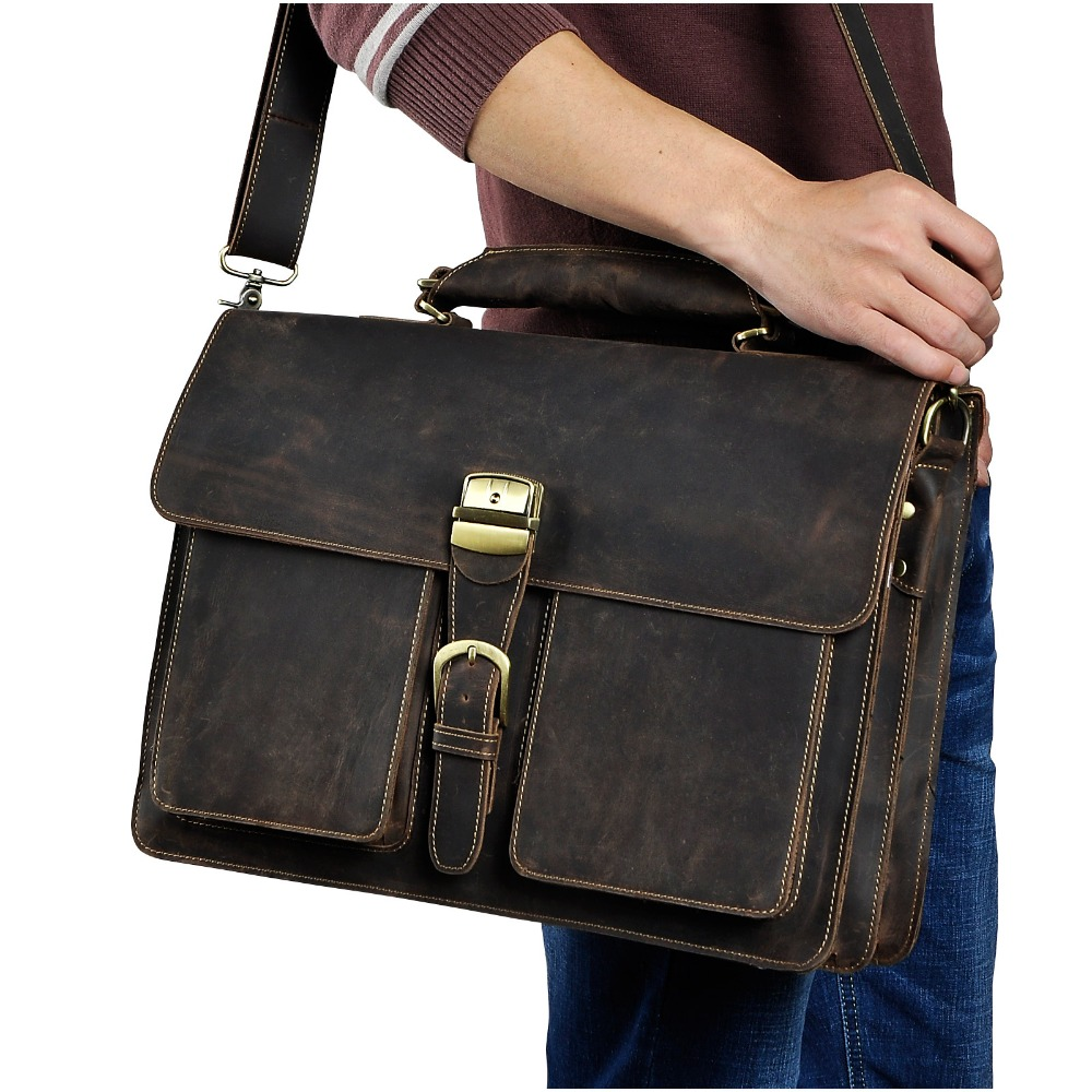 Exécutif Portefeuille 1031d Brown D'affaires Hommes Sac Pour Porte Portable Messenger Cuir Organisateur Professionnel Dark brown Dudy D'origine documents En Lourd 9IHE2WD