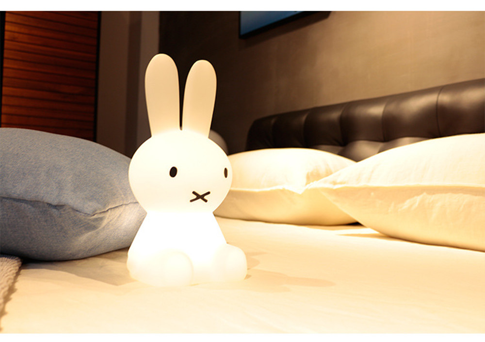 SuperNight Cartoon Rabbit LED Night Light Dimmable Rechargeable Touch Sensor Bedroom Bedside Table Lamp for Baby Kids Toy Gift (31)