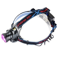 NEW High Quality 2000 Lumens CREE XM L T6 LED Headlamp Headlight Head Torch Lamp Purple