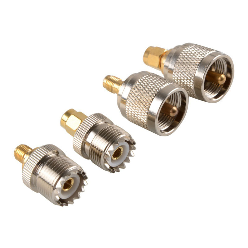 4Pcs/Set A13 Kit Adapter PL259 SO239 to SMA Male Female RF Connector Test Converter VC666 P0.5 E2shopping --M25