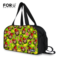 2017 Fashion Cotton Luggage Travel Bag Women Printed Monkey Travel Duffle Bag Large Capacity Men Travel Bag Sac De Voyage
