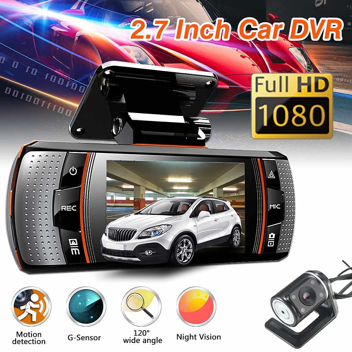 2.7 inch Dual Lens Car Dash Camera 1080P DVR Video Cam Night Vision Recorder