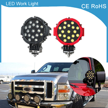 1 piece 7Inch 51W Car Round LED Work Light 12V 24V High Power 7″ 17x3W Spot Light For 4×4 Offroad Truck Tractor ATV SUV Driving