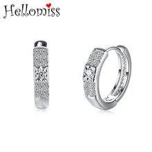 Small Hoop Earrings with Stone Fashion Jewelry Silver 925 Earrings for Women Wedding Accessories Female Brinco Earing Gifts luxury crystal hoop earrings 925 silver green stone women earrings jewelry wedding design earring gifts brinco