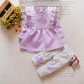 2017 New Fashion Flower Baby Girl Autumn Outfit Baby Girl Spring Long-Sleeves Clothing Sets Coats and Pants