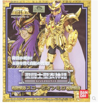 Anime Saint Seiya Original BANDAI Tamashii Nations Old Gold Saint Cloth Myth 1.0 Action Figure - Scorpio Milo CLOTH the little old lady in saint tropez
