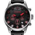 Ochstin 2016 marca top sports men watch moda big dial chronograph watch auto data de pulso de couro casual relógio de quartzo militar