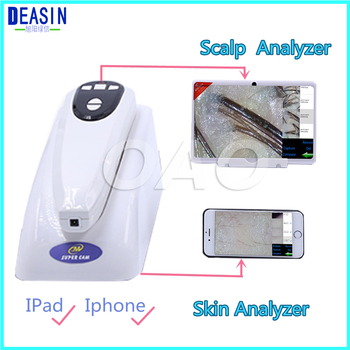 NEW High-tech Wifi Scalp Hair Microscope Analyzer Skin Detector Analyzer camera with base for mobile phone or Pad