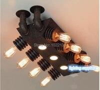 Американский кантри Светодиодная лампа потолка для Гостиная Винтаж Творческий промышленного Двигатели для автомобиля кулон Освещение