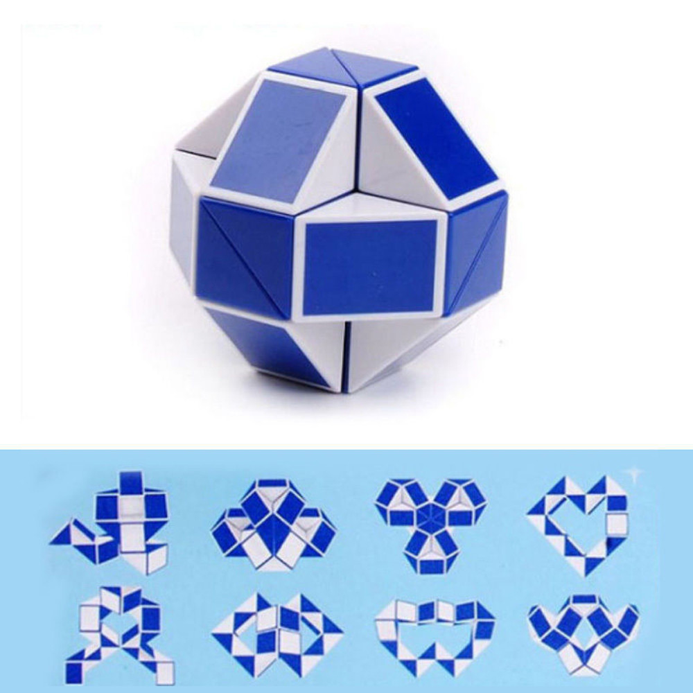 24 Parts Snake Magic Fidget Snake Cube Twist Puzzle Variety Popular Twist Puzzle For Kids Game Transformable Gift For Kids #YL