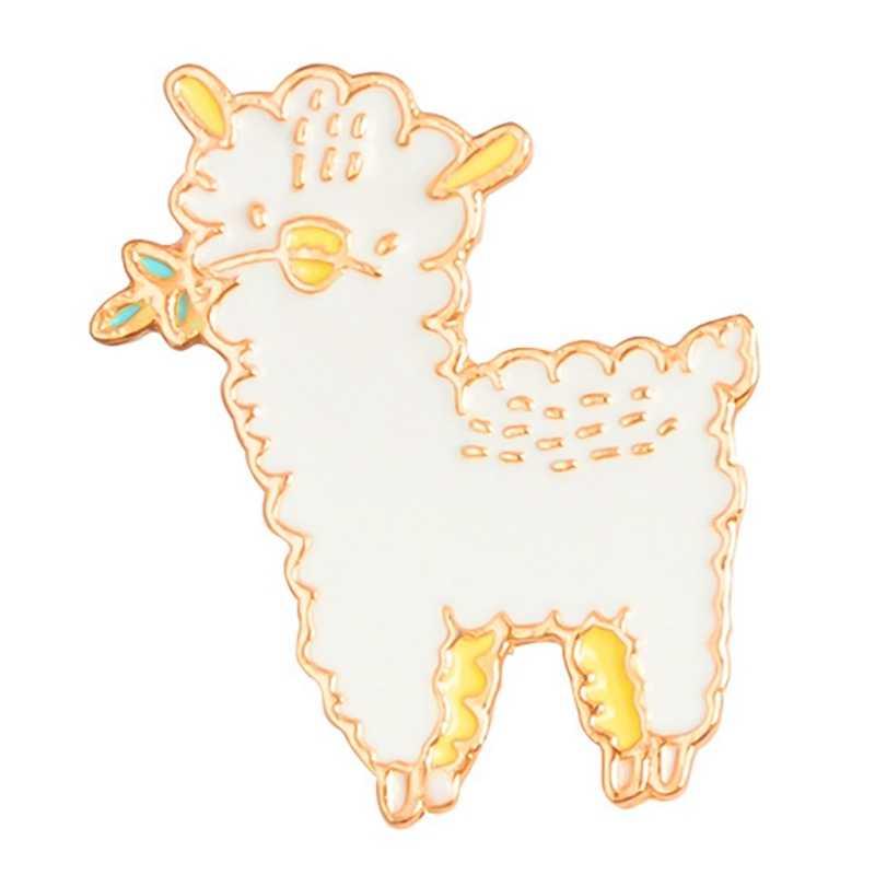 Мультфильм животных овец детскую эмаль контакты значки воротник броши для Для женщин нагрудные контактный брошь ювелирных изделий Костюмы аксессуары, сумки