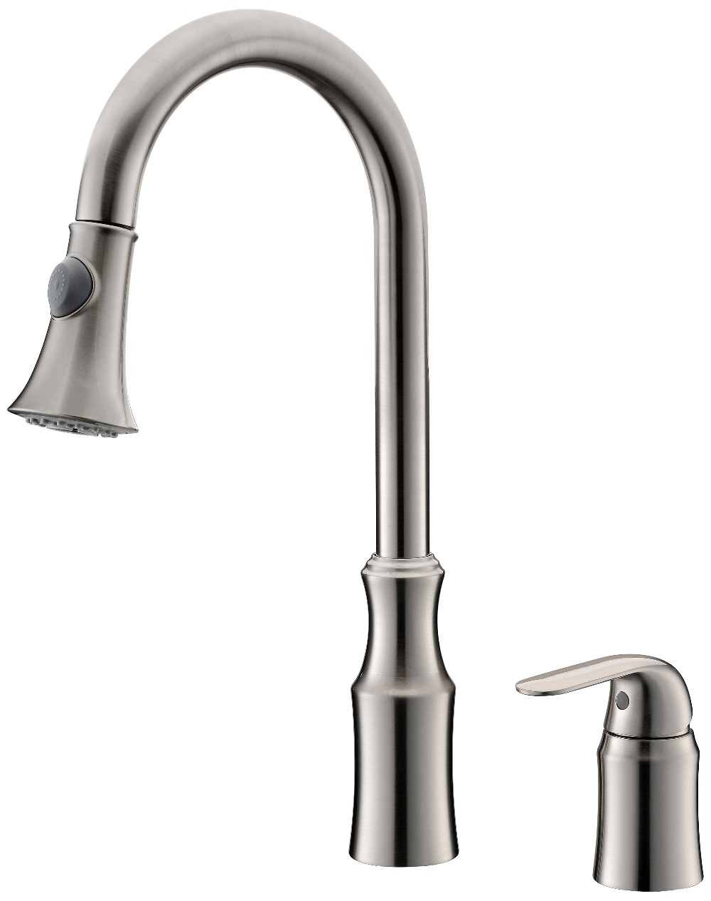 brushed nickel single handle kitchen faucet free ship new brushed nickel single handle pull down kitchen faucet mixer tap widespread 2 holes 3464