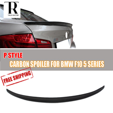 F10 M5 520i 528i 528d Carbon Fiber Rear Wing Spoiler for BMW F10 5 Series Sedan F10 M5 2010 – 2016 Auto Racing Car Rear Lip Wing