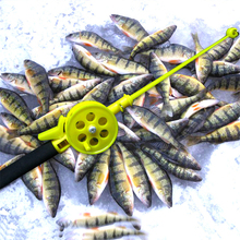 Mini Winter Ice Fishing Rod Children Durable Pole 33cm 50g With Reels Newcomer Beginner Fish Accessories