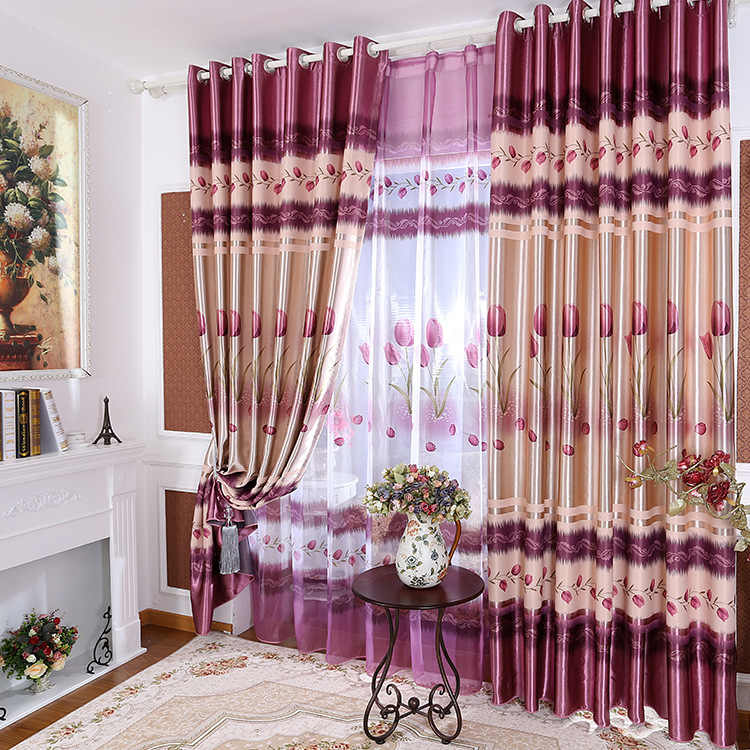 Girl American Garden Shade Purple Print Curtains for Living Room Bedroom Curtains Bedroom Curtains Living Room Curtains.