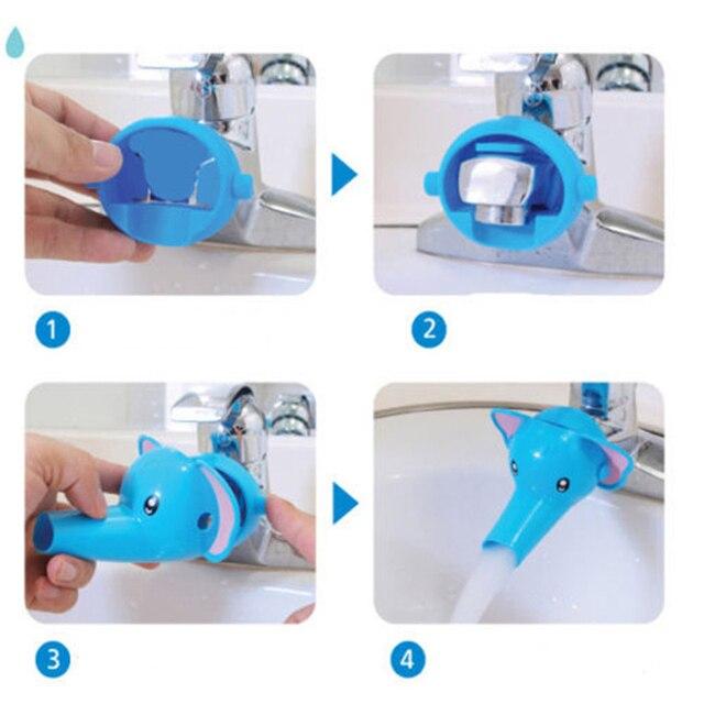 1 pz Acqua Rubinetto Extender Sveglio Del Fumetto di Lavaggio Helper Mano Accessori Per il Bagno Animali Belli Rubinetto Extender Per Il Capretto Bambini