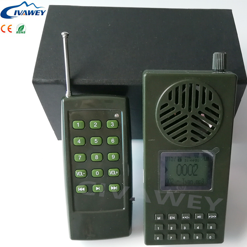 80 120m remote control hunting bird sound mp3 player speaker 130dB portable bird caller with timer
