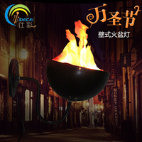 Wall Brazier Lights Table Top Flame Light Halloween Decoration for Party House Bar Brazier Lamp Artificial Flame Fake Fire