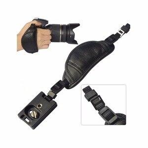 Image 1 - جلد طبيعي كاميرا الشريط اليد قبضة لسوني أوليمبوس باناسونيك كاميرا dslr المهنية الملحقات