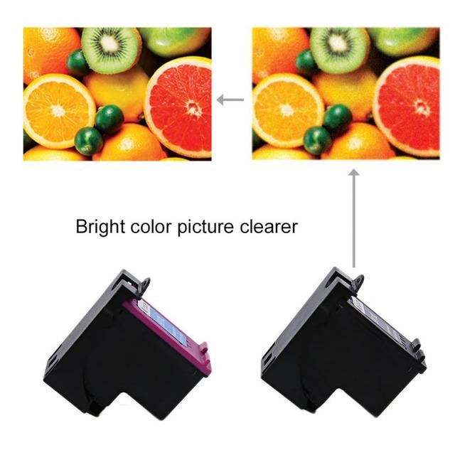 2Pcs 901 For HP901 XL HP901 Color/ Black Ink Cartridges For HP OfficeJet 4500 J4580 J4550 J4540 J4680 J4535 Printer