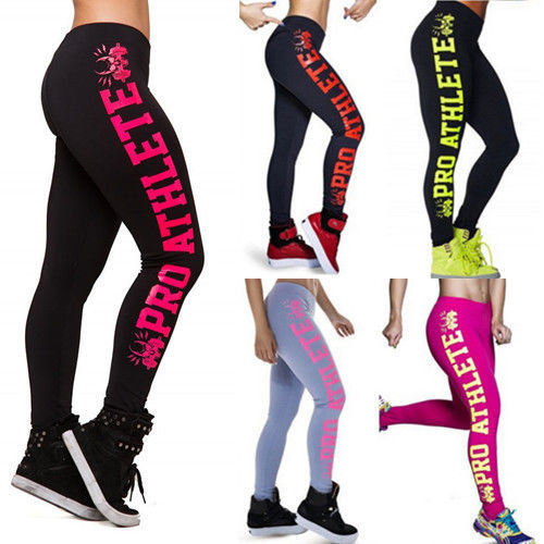 2016 New Arrival Legging Fitness Women Summer Style Print Side Letter High Waist Leggings Fitness Workout Fashion Pants