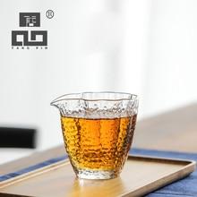 TANGPIN heat-resistant glass tea infusers hammer pattern pitcher chahai gongdaobei 185ml