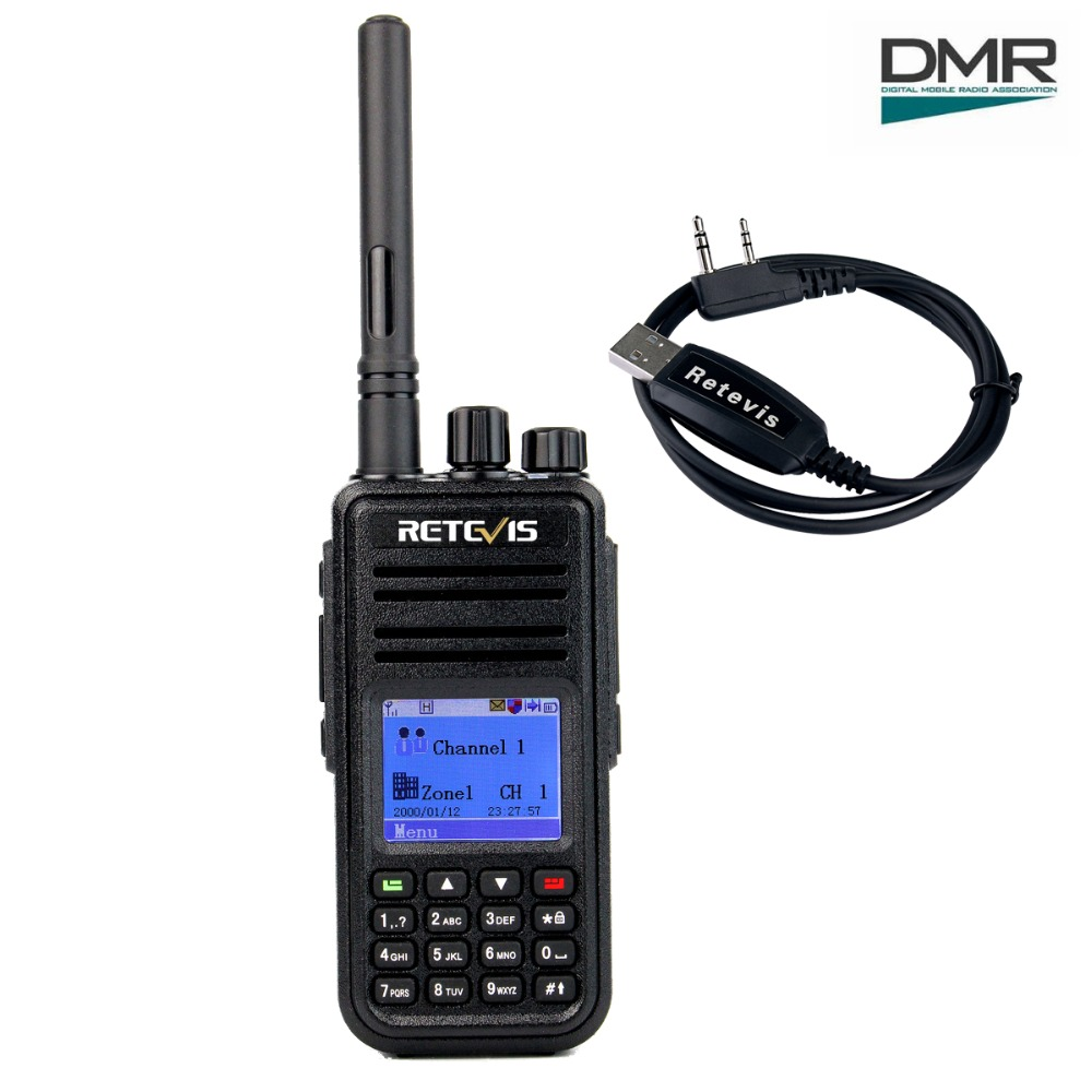 Retevis RT3 DMR Radio Digital (GPS) Walkie Talkie UHF (atau VHF) 5W yang disulitkan 2 Way Radio Amador Hf Transceiver Ham Radio Station