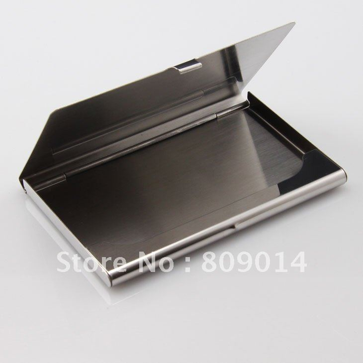 Free shipping engraved stainless steel business card holder, credit ...