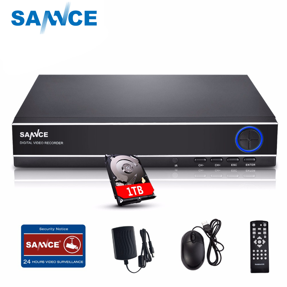 Clearance Sale For Russia : SANNCE HD 4CH 1080N DVR 1TB HDD CCTV DVR 720P Video Surveillance DVR