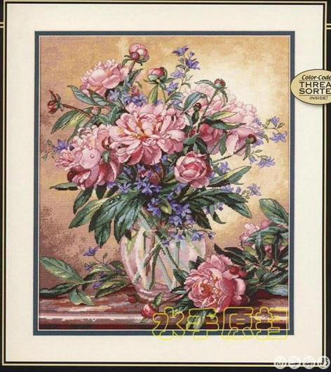 Fishxx Cross Stitch,T401flowers[romantic Peony] Sitting Room,soluble Printing,100% Accurate Pattern,11CT,Need To Embroidery